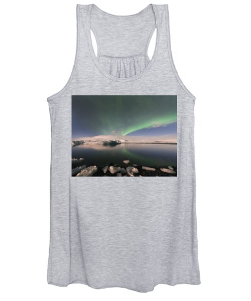 Aurora Borealis And Reflection Women's Tank Top