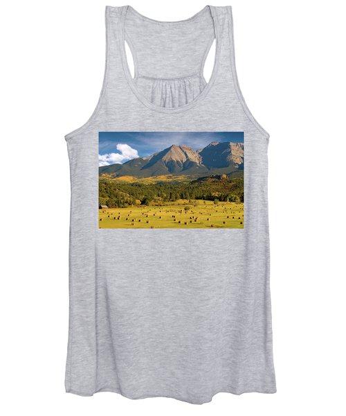 Autumn Hay In The Rockies Women's Tank Top