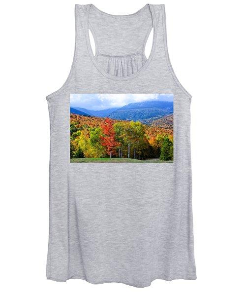 Autumn White Mountains Nh Women's Tank Top