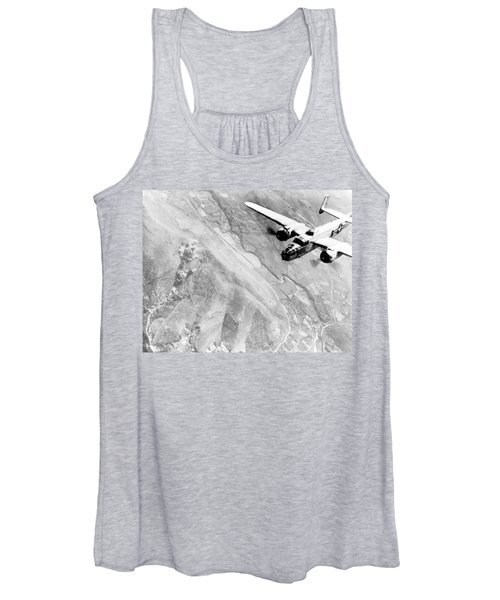 B-25 Bomber Over Germany Women's Tank Top
