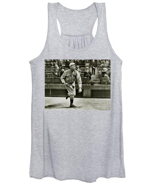 Babe Ruth Pitching Women's Tank Top