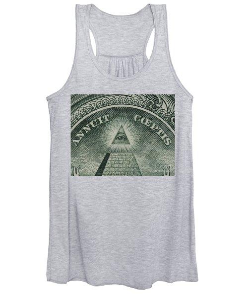 Back Of 1 Dollar Bill Women's Tank Top