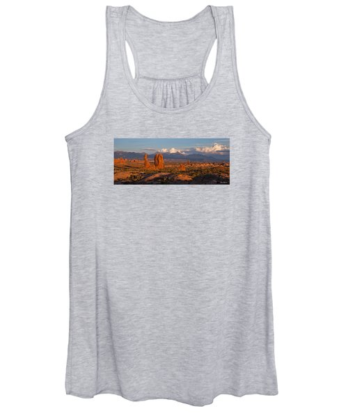 Balanced Rock And Summer Clouds At Sunset Women's Tank Top