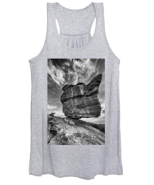 Balanced Rock Monochrome Women's Tank Top