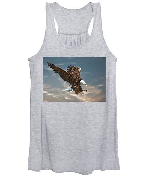 Bald Eagle Swooping Women's Tank Top