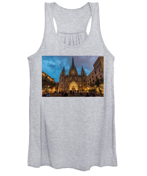 Barcelona Cathedral At Dusk Women's Tank Top