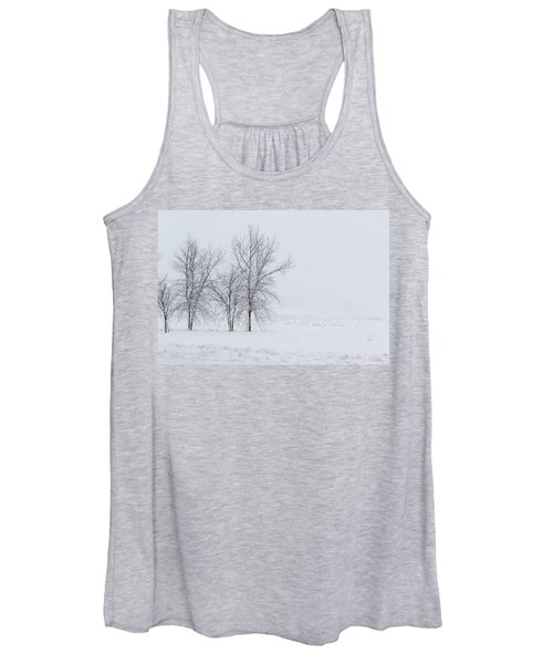 Bare Trees In A Snow Storm Women's Tank Top
