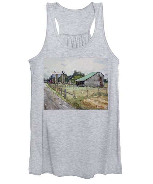 Barns And Old Shack In Norval Women's Tank Top