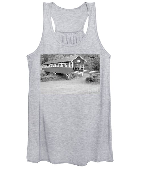 Barron's Covere Bridge In Black And White Women's Tank Top