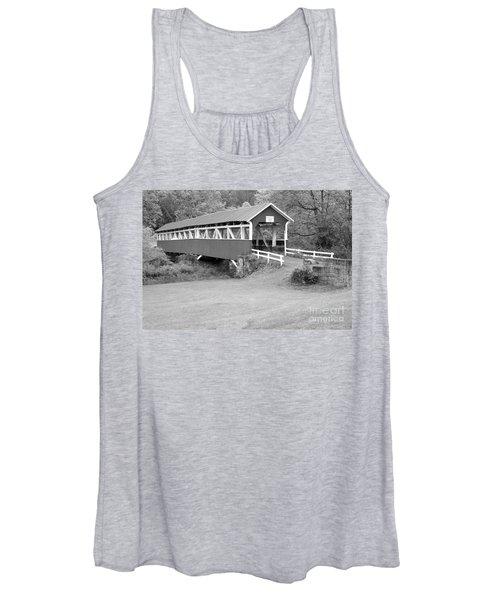 Barronvale Covered Bridge Black And White Women's Tank Top