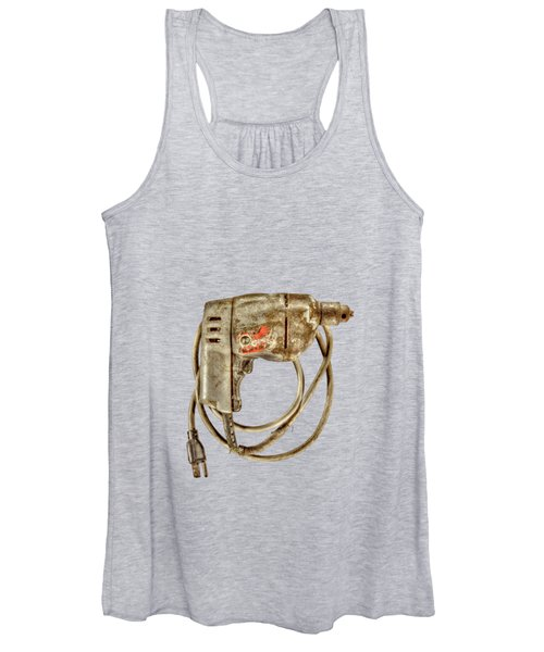 Bd Drill Motor On Black Women's Tank Top