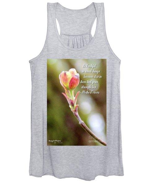 Be Faithful By Mother Teresa Women's Tank Top