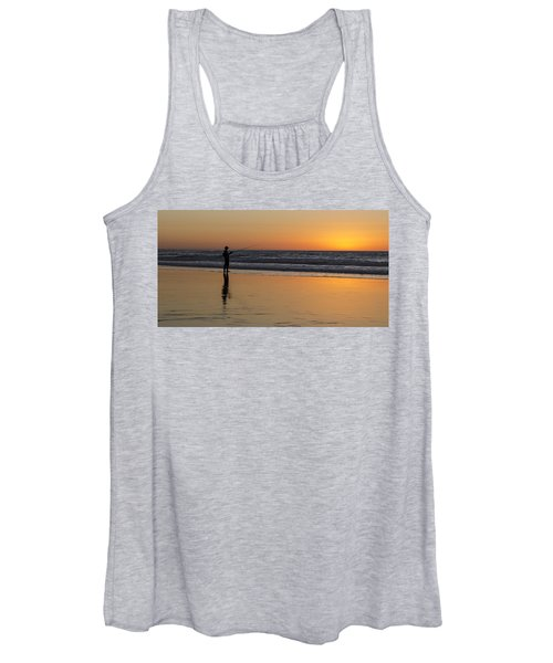 Beach Fishing At Sunset Women's Tank Top