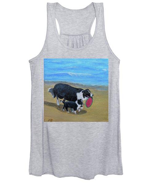 Beach Frisbee Women's Tank Top