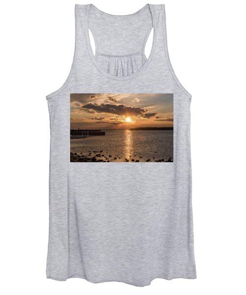 Beach Haven Nj Sunset January 2017 Women's Tank Top