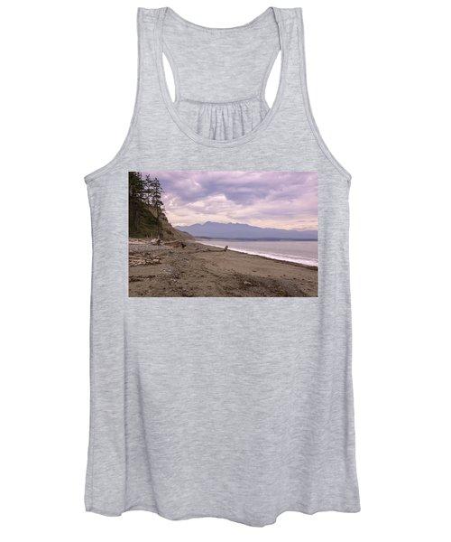 Beach On Dungeness Spit Women's Tank Top