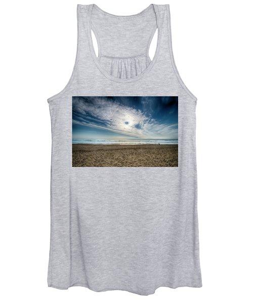 Beach Sand With Clouds - Spiagggia Di Sabbia Con Nuvole Women's Tank Top