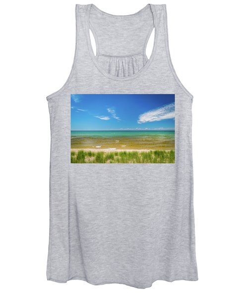 Beach With Blue Skies And Cloud Women's Tank Top