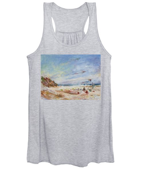 Beachy Day - Impressionist Painting - Original Contemporary Women's Tank Top