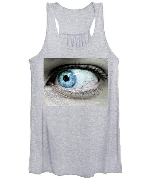 Beautiful Blue Eye Women's Tank Top