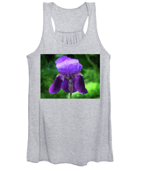 Beautiful Iris With Texture Women's Tank Top