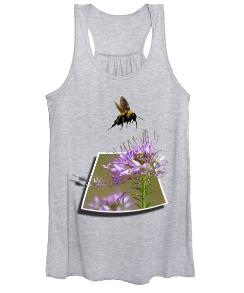 Women's Tank Top featuring the photograph Bee Free by Shane Bechler