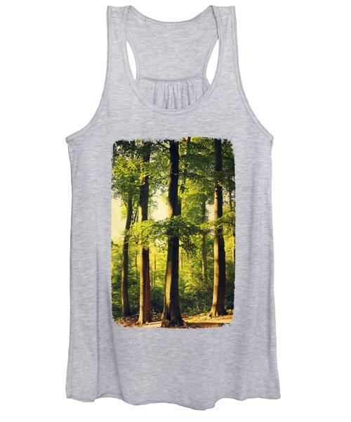 Beech Tree Forest In Evening Light Women's Tank Top