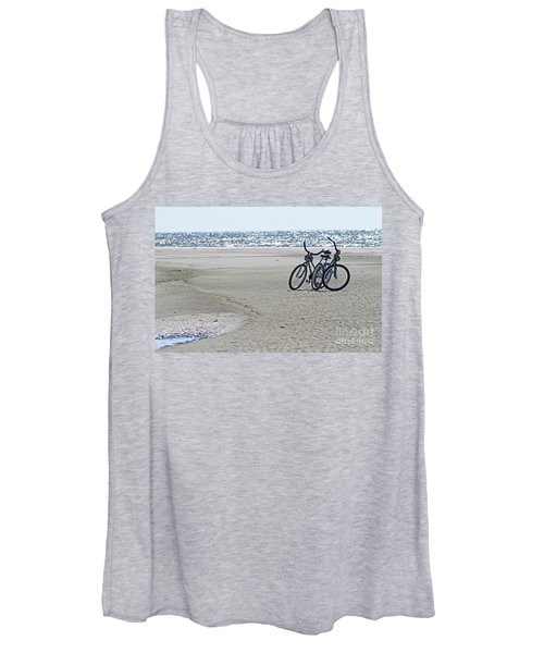 Bicycles On The Beach Women's Tank Top