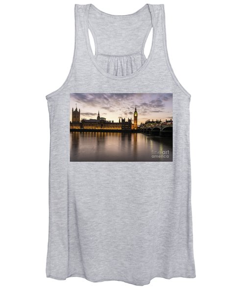 Big Ben And Parliament Dusk Reflection Women's Tank Top