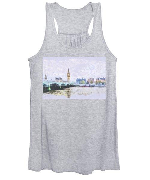 Big Ben And Westminster Bridge London England Women's Tank Top