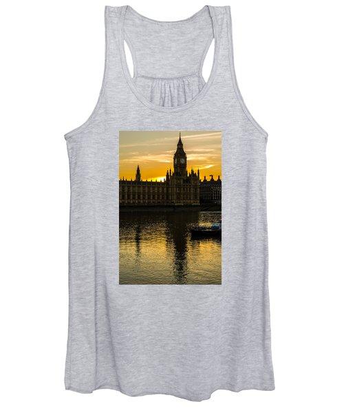 Big Ben Tower Golden Hour In London Women's Tank Top