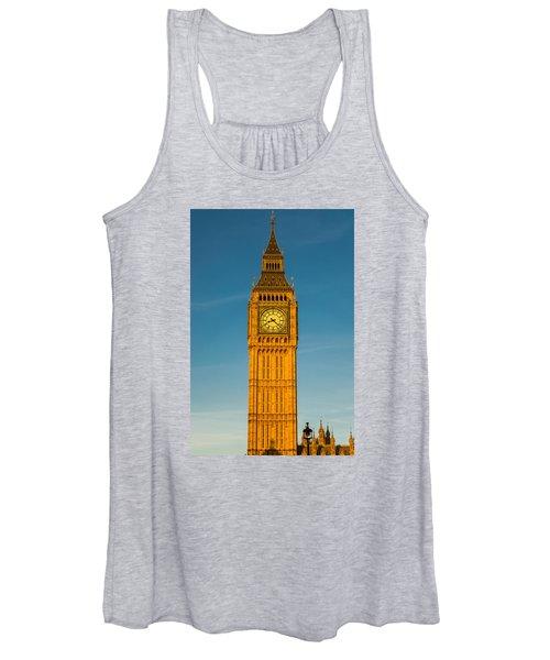 Big Ben Tower Golden Hour London Women's Tank Top