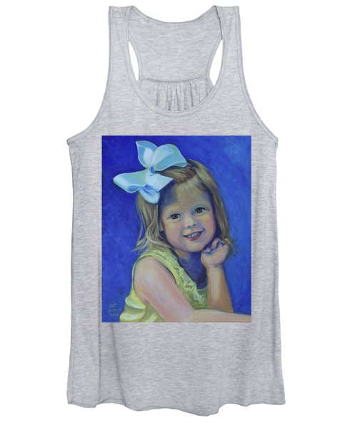 Big Bow Little Girl Women's Tank Top