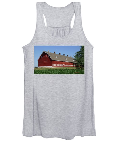Big Red Barn In Spring Women's Tank Top