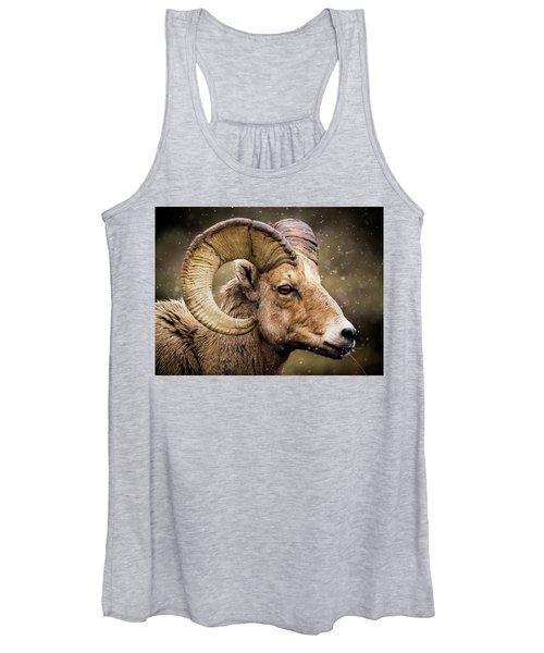 Bighorn Sheep In Winter Women's Tank Top