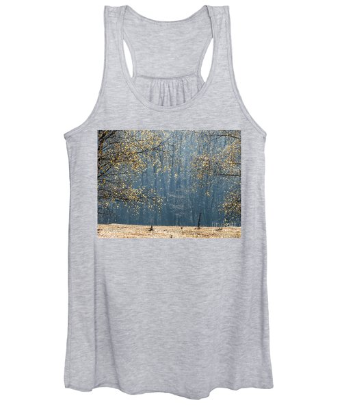 Birch Forest To The Morning Sun Women's Tank Top