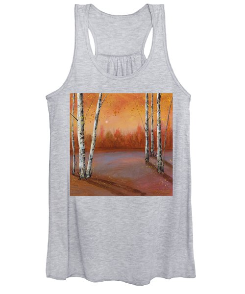 Birches In The Fall Women's Tank Top