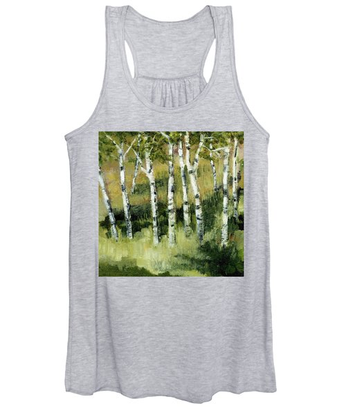 Birches On A Hill Women's Tank Top