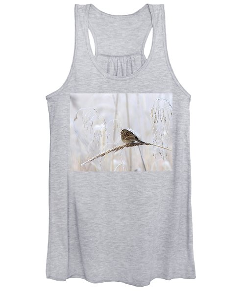 Bird In First Frost Women's Tank Top