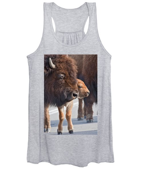 Bison And Calf Women's Tank Top