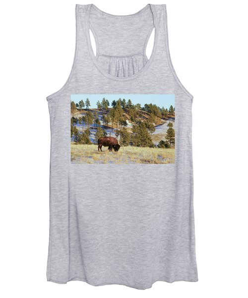 Bison In Custer State Park Women's Tank Top