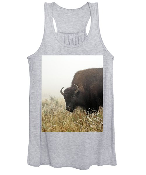 Bison In The Frosty Morning Women's Tank Top