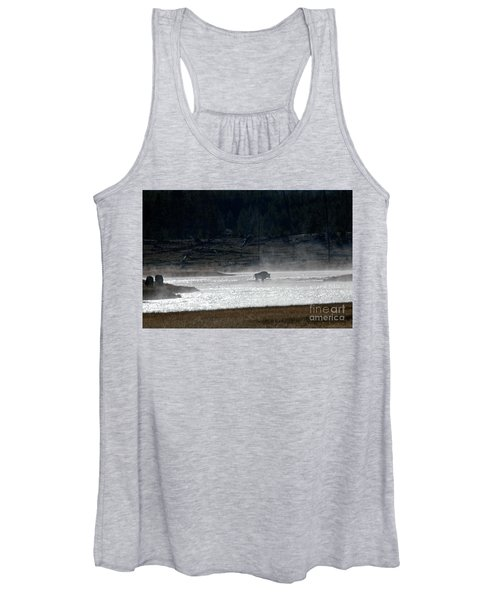 Bison In The River Women's Tank Top