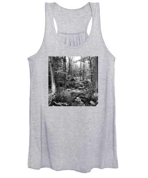Black And White Babbling Brook Women's Tank Top