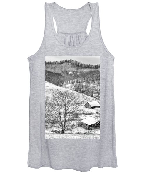 Black And White In Winter Women's Tank Top