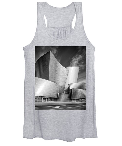 Black And White Rendition Of The Walt Disney Concert Hall - Downtown Los Angeles California Women's Tank Top