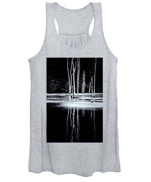 Black And White Winter Thaw Relections Women's Tank Top