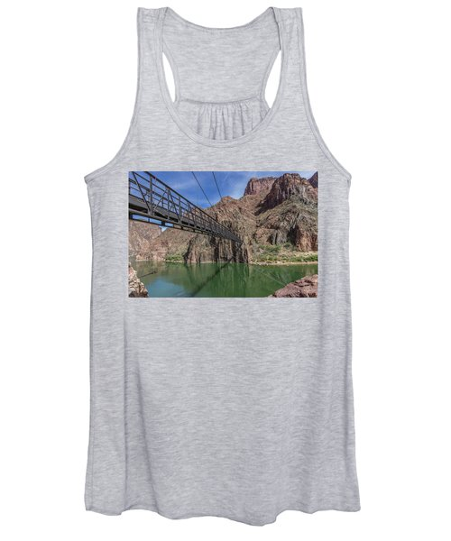 Black Bridge Over The Colorado River At Bottom Of Grand Canyon Women's Tank Top