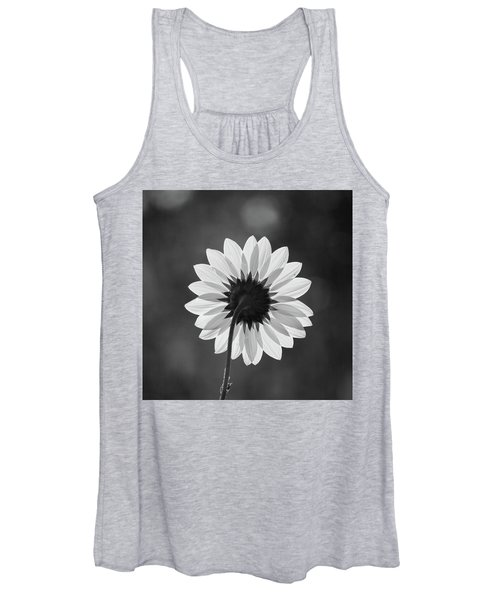 Black-eyed Susan - Black And White Women's Tank Top