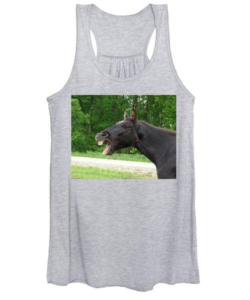 Black Horse Laughs Women's Tank Top